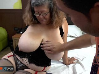 Agedlove granny with fat knockers banged