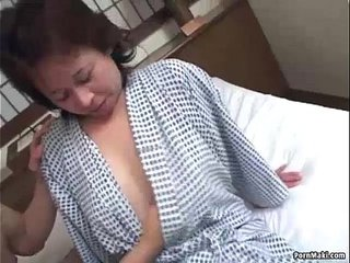 Asian granny likes threesome nailing