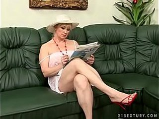 Fur covered granny gets screwed by a young guy