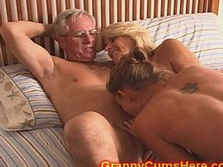Grandma with hairy cunt screwing