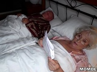 Granny cheating on her husband with a junior stud