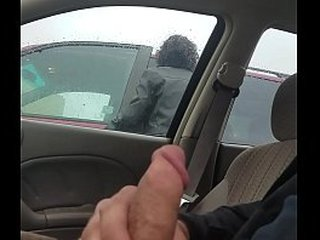 Granny can't stop gazing almost causes accident