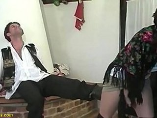 S/M 81 years old farmers granny gets extreme raunchy banged by her young toyboy