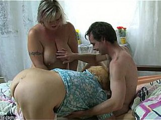 Very old chubby granny fucking with young dude OLDNANNY