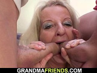 Old ash-blonde granny dp