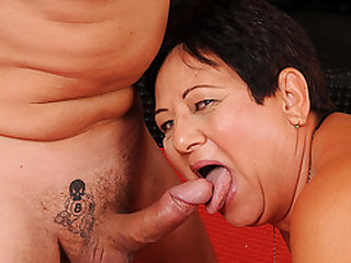 Old BBW Granny Enjoying her Junior Plaything