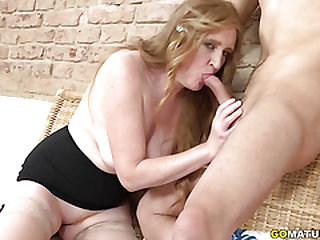 Super-naughty mature Angelica doing her toyboy