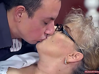 Excited breasty granny likes xxx bullwhips style fuck