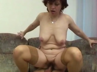 granny gets her hairy pussy opened up