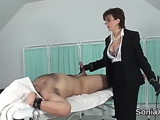 Unfaithful british older lady sonia pops out her thickest bra-stuffers
