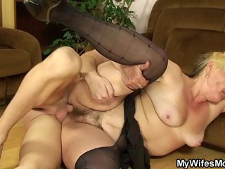 Taboo screw with old mother-in-law
