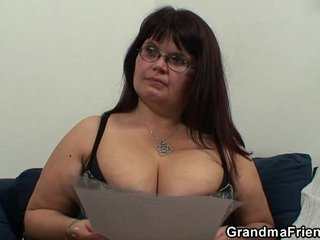 Porno audition for thick mature