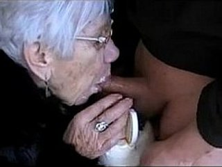 Granny Deep-throats Boys Cock for Her Birthday - More at cuntcams.net