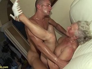 busty old wifey gets extreme rough nailed