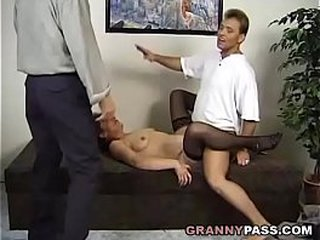 Surprise 3 way With A German Granny