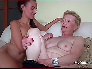Lucy Lezzie Kisses & Licks Old Granny