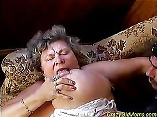 Chesty granny is deeply torn up