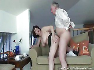 Chesty Granny Ivana Spunked Right On Her Tight Wooly Vagina