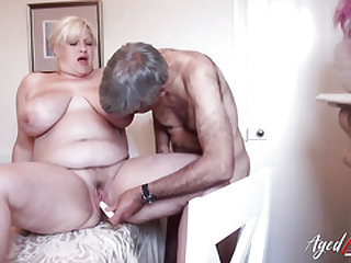 AgedLovE Mature Fingerblasted and Fucked Gonzo