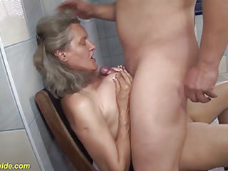 extreme buxomy 83 years old mother titty screwed