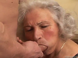 Breasty granny's screwed naive during the time that wearing nylons