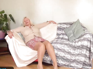Breasty granny Lacey has moist enjoy tunnel by EuropeMature